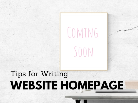Tips for Writing Website Homepage