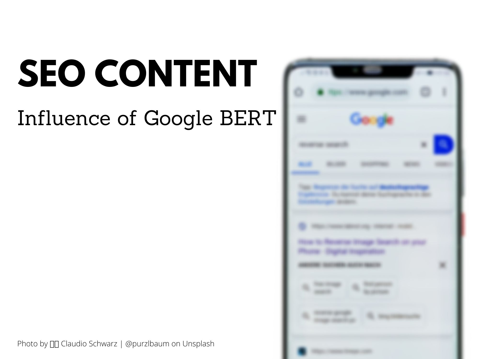 Influence of Google BERT on SEO Content